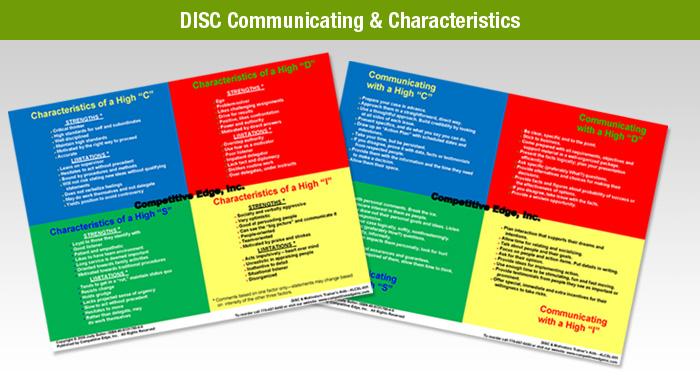 DISC-Communicating-&-Characteristics